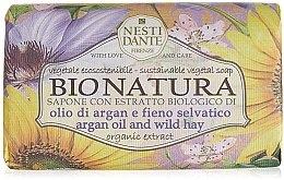 """Voňavky, Parfémy, kozmetika Mydlo """"Arganový olej a seno"""" - Nesti Dante Bio Natura Argan Oil & Wild Hay Soap"""