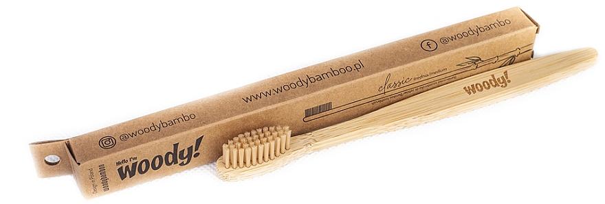 "Bambusová zubná kefka ""Classic"", stredne tvrdá, - WoodyBamboo Bamboo Toothbrush Classic"