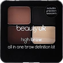 Voňavky, Parfémy, kozmetika Sada na modelovanie obočia - Beauty UK High Brow and Eyebrow Kit