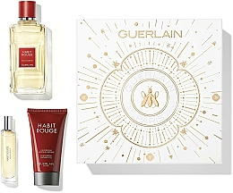 Voňavky, Parfémy, kozmetika Guerlain Habit Rouge - Sada (edt/100ml + sh/gel/75ml + edt/10ml)