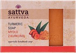 """Voňavky, Parfémy, kozmetika Mydlo na telo """"Kurkuma"""" - Sattva Ayurveda Turmeric Soap"""