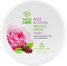 Voňavky, Parfémy, kozmetika Masážny krém s tonizačným účinkom - Bulgarian Rose Herbal Care Rose & Cococa Massage Cream