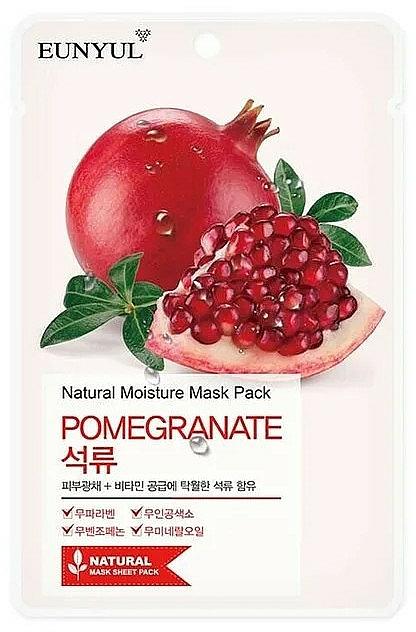 Textilná maska na tvár s extraktom z granátového jablka - Eunyul Natural Moisture Pomegranate Mask