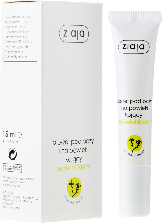Bio gél pre pokožku okolo očí - Ziaja Bio-Gel Eye And Eyelid Smoothing With A Skylight