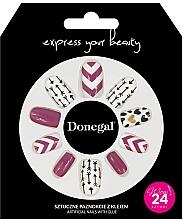 Voňavky, Parfémy, kozmetika Sada umelých nechtov s lepidlom, 3057 - Donegal Express Your Beauty