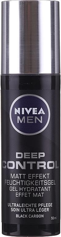 Hydratačný gél na tvár so zmatňujúcim účinkom - Nivea Men Deep Control Matt Effect Moisturizing Gel — Obrázky N3