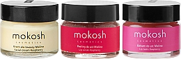 Voňavky, Parfémy, kozmetika Sada - Mokosh Cosmetics Raspberry (cr/15ml + lip/balm/15ml + lip/scr/15ml)
