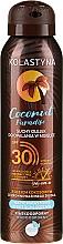 Voňavky, Parfémy, kozmetika Suchý olej na opaľovanie - Kolastyna Coconut Paradise Oil SPF30