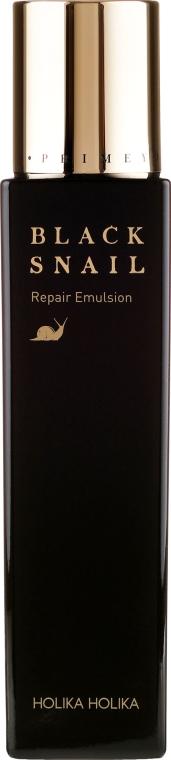 Omladzujúca regeneračná emulzia s extraktom z čierneho slimáka - Holika Holika Prime Youth Black Snail Repair Emulsion — Obrázky N2