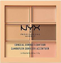 Voňavky, Parfémy, kozmetika Paleta korektorov na tvár - NYX Professional Makeup Palette Conceal Correct Contour