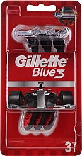 Voňavky, Parfémy, kozmetika Sada jednorazových holiacich strojčekov, 3ks - Gillette Blue 3 Red