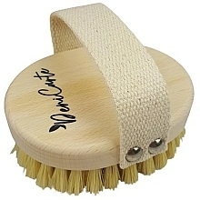 Voňavky, Parfémy, kozmetika Anticelulitídna masážna kefa so štetinami z kaktusových vlákien, bavlnené ucho - Deni Carte