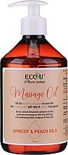 Voňavky, Parfémy, kozmetika Masážny olej - Eco U Massage Oil Sweet Apricot & Peach Oil