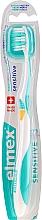 Voňavky, Parfémy, kozmetika Mäkká zubná kefka, tyrkysovo-žltá - Elmex Sensitive Toothbrush Extra Soft