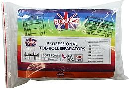 Voňavky, Parfémy, kozmetika Oddeľovač prstov na pedikúru, valec, 500 ks - Ronney Professional Toe-Roll Sparators