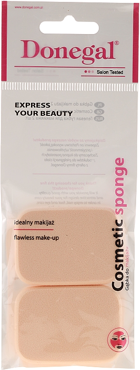 Hubka na make-up, ružová, 2 ks. 1077 - Donegal Sponge Make-Up — Obrázky N1