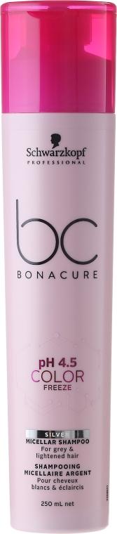 Šampón strieborný pre blond vlasy - Schwarzkopf Professional Bonacure Color Freeze pH 4.5 Silver Shampoo