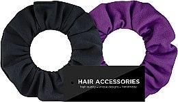 """Voňavky, Parfémy, kozmetika Sada gumičiek do vlasov, textilné """"Black&Violet"""" - MakeUp"""