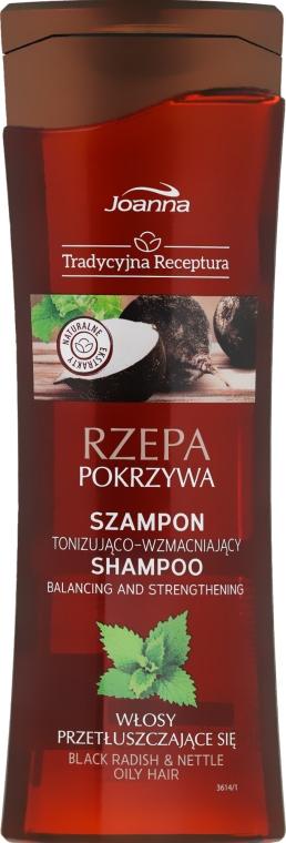 """Šampón na vlasy """"Čierna reďkovka a žihľava"""" - Joanna Balancing And Strengthening Shampoo — Obrázky N1"""