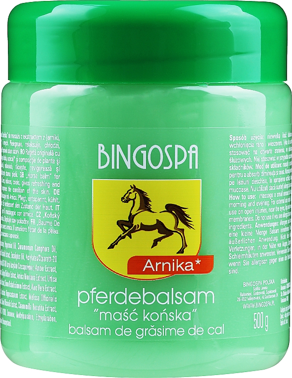 Maska koní s extraktom z arniky - BingoSpa