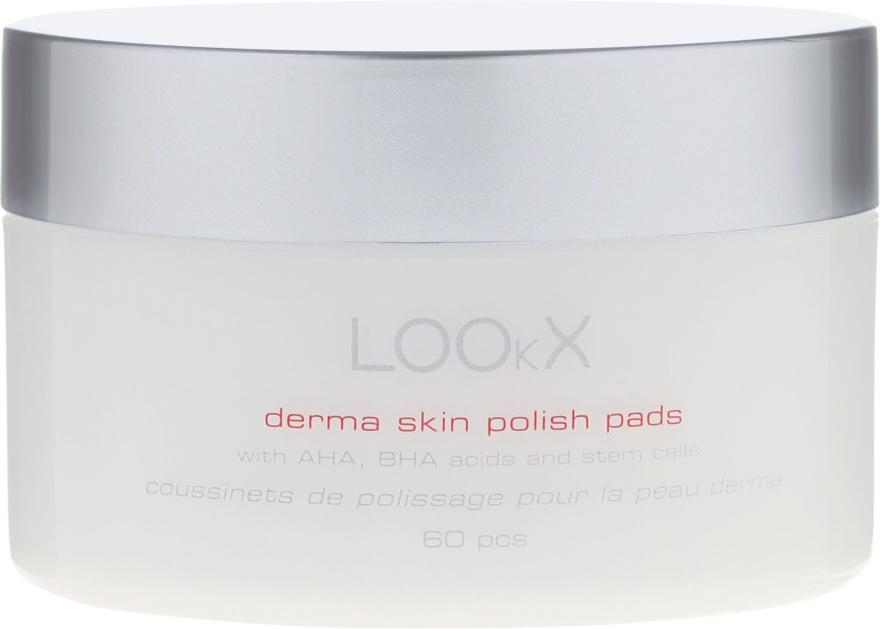 Vankúšiky na pokožku s AHA, BHA kyselinami - LOOkX Derma Skin Polish Pads — Obrázky N1