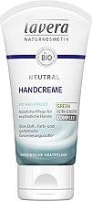 Voňavky, Parfémy, kozmetika Krém na ruky - Lavera Neutral Green Ultra Sensitive Complex Hand Cream