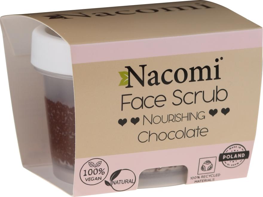 Hydratačný peeling na tvár a pery - Nacomi Moisturizing Face&Lip Scrub Chocolate