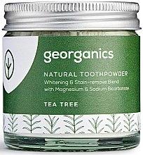 Voňavky, Parfémy, kozmetika Prírodný zubný prášok - Georganics Tea Tree Natural Toothpowder