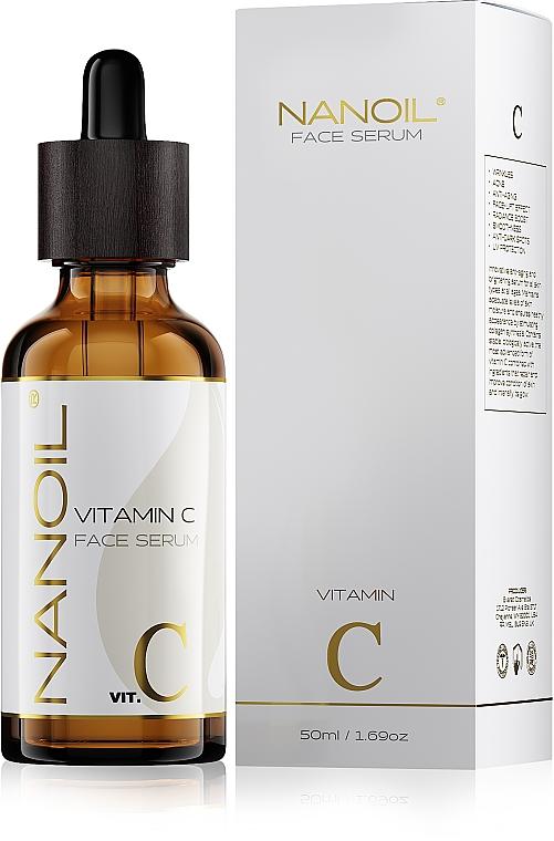 Rozjasňujúce tvárové sérum s vitamínom C - Nanoil Face Serum Vitamin C