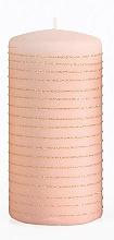Voňavky, Parfémy, kozmetika Dekoratívna sviečka, ružovo-zlatá, 7x10 cm - Artman Andalo