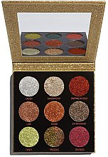 Voňavky, Parfémy, kozmetika Paleta glitterov - Makeup Revolution Pressed Glitter Palette Midas Touch