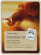 Voňavky, Parfémy, kozmetika Textilná maska na tvár so slimačím mucínom - Tony Moly Pureness 100 Snail Mask Sheet