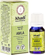 """Voňavky, Parfémy, kozmetika Ajurvédsky olej na vlasy """"Amla"""" - Khadi Hair Oil (mini)"""