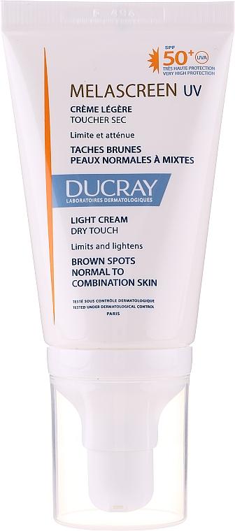 Ľahký antipigmentačný krém pre normálnu a kombinovanú pleť - Ducray Melascreen UV Light Cream SPF 50+