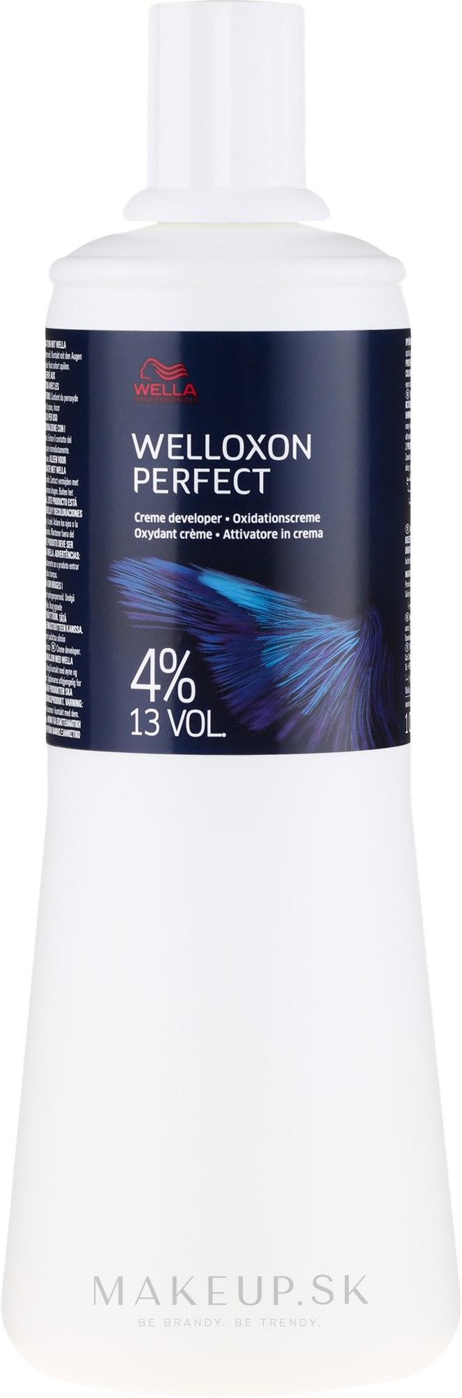 Oxydačné činidlo - Wella Professionals Welloxon Perfect 4% — Obrázky 1000 ml