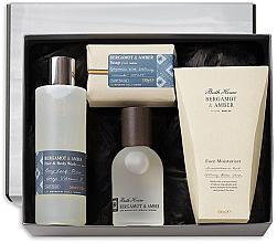 Voňavky, Parfémy, kozmetika Bath House Bergamot & Amber - Sada (edc/100ml + sh/gel/260ml + f/cr/100ml + soap/150g)