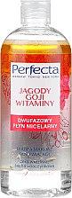 """Voňavky, Parfémy, kozmetika Dvojfázová micelárna tekutina na tvár """"Goji bobule a vitamíny"""" - Perfecta"""