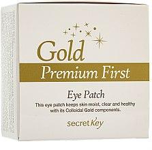 Voňavky, Parfémy, kozmetika Maska na kontúry očí - Secret Key Gold Premium First Eye Patch