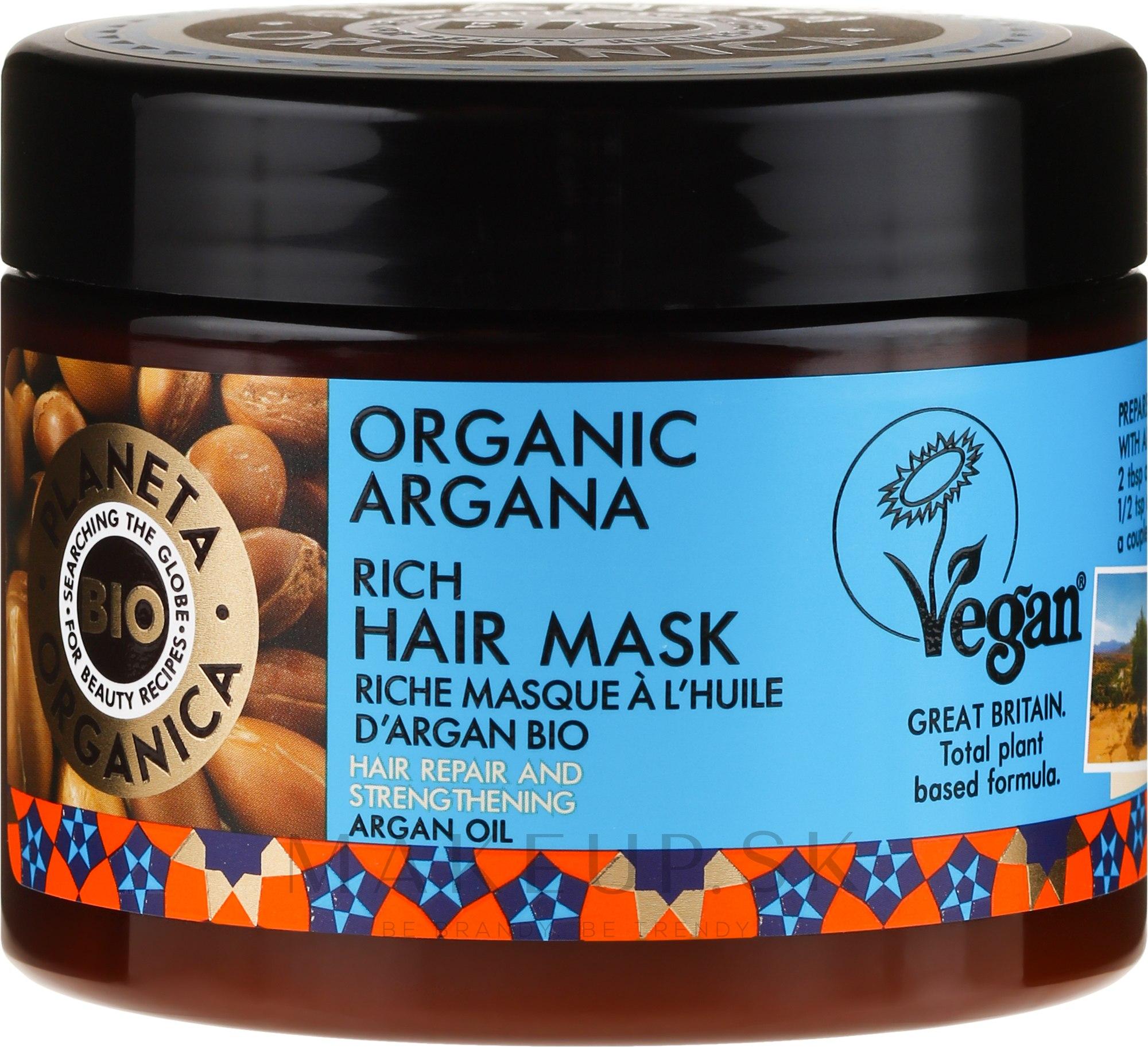 Revitalizačná maska na vlasy - Planeta Organica Organic Argana Rich Hair Mask — Obrázky 300 ml