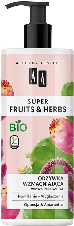 "Posilňujúci kondicionér na vlasy ""Opuncia a Amarant"" - AA Super Fruits Herbs Conditioner"