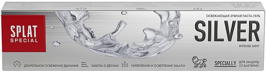 Antibakteriálna osviežujúca zubná pasta na jemné zosvetlenie skloviny - SPLAT Special Silver — Obrázky N4