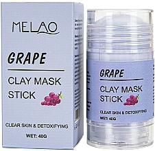 Voňavky, Parfémy, kozmetika Maska na tvár v tyčinke Grape - Melao Grape Clay Mask Stick