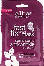 Voňavky, Parfémy, kozmetika Textilná maska proti starnutiu - Alba Botanica Fast Fix Sheet Mask Camu Camu Anti-Wrinkle