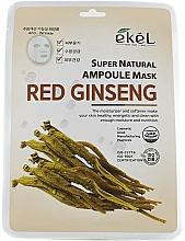 Voňavky, Parfémy, kozmetika Textilná maska s extraktom zo ženšenu - Ekel Super Natural Ampoule Mask Red Ginseng