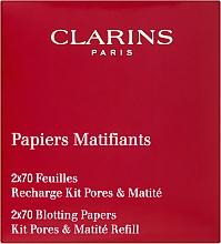 Voňavky, Parfémy, kozmetika Matujúce obrúsky - Clarins Kit Pores & Matite (výmenný blok)