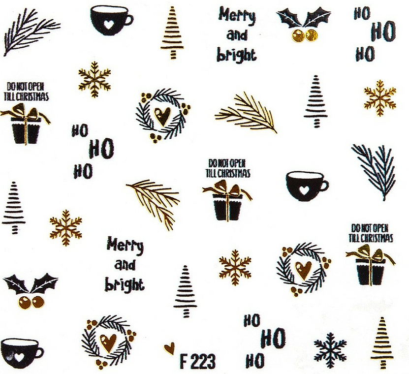 "Vodolepky na nechty ""Vianoce 2020"" - Peggy Sage Christmas 2020 (1 ks)"