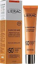 Voňavky, Parfémy, kozmetika Emulzia na tvár a dekolt - Lierac Sunissime Fluide Protecteur Anti-Age SPF50+
