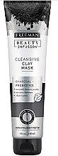 Voňavky, Parfémy, kozmetika Čistiaci maska na tvár s aktívnym uhlím, probiotikami a sérom - Freeman Beauty Infusion Cleansing Clay Mask Charcoal & Probiotics