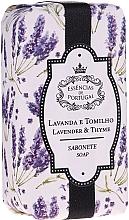 """Voňavky, Parfémy, kozmetika Prírodné mydlo """"Levanduľa a tymián"""" - Essencias De Portugal Natura Lavander&Thyme Soap"""