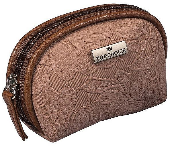 """Dámska kozmetická taška """"Lace"""", 98581, tmavohnedá - Top Choice"""